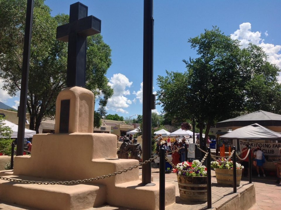 Photo - The plaza in Taos. Photo by Carla Meadows