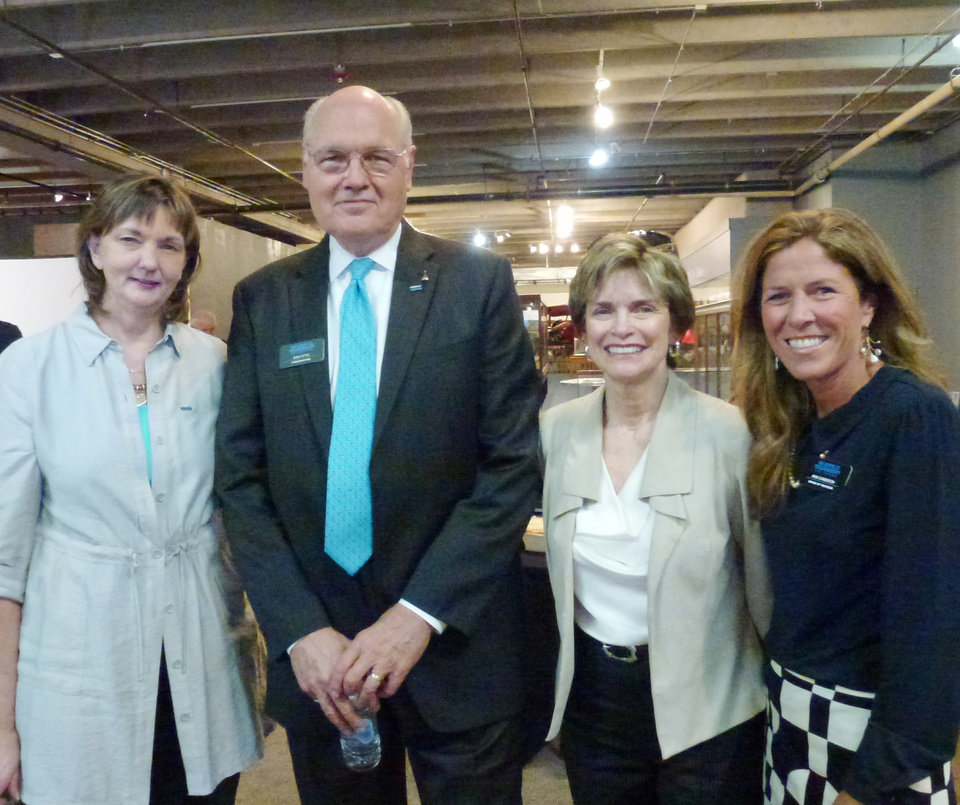 Photo - Marion Moon, Don Otto, Polly Nichols and Ann Cameron at a party for Jim Farris, former board chairman of Science Museum Oklahoma Thursday, March 27, 2014. Provided  PROVIDED