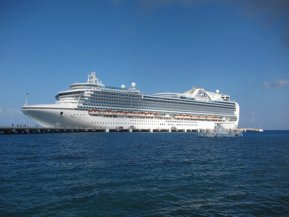 Photo - The 3080-passenger Crown Princess sails round trip from Galveston, TX.  Photo by Wesley K.H. Teo