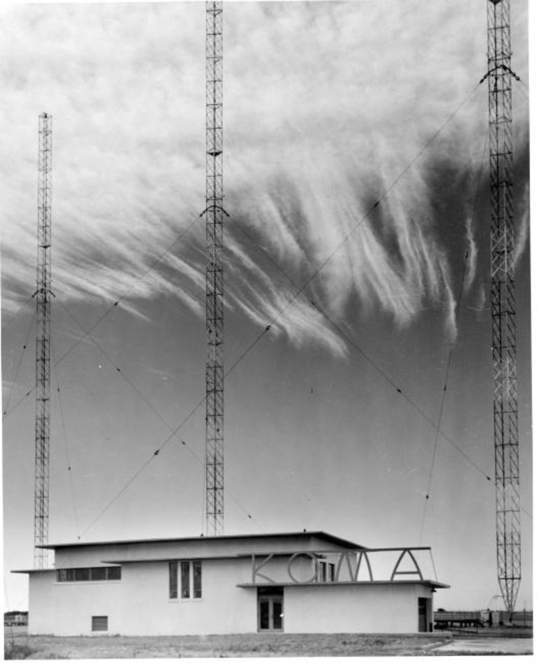 Photo -  KOMA-AM Radio, which began operating at 50,000 watts in late 1946, hired fledgling FSB to design its Prairie Style studio. [PHOTO PROVIDED BY FSB]