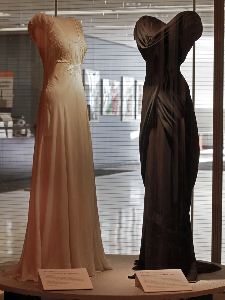 Photo -   A design by Irene, left, from the 1948 MGM movie
