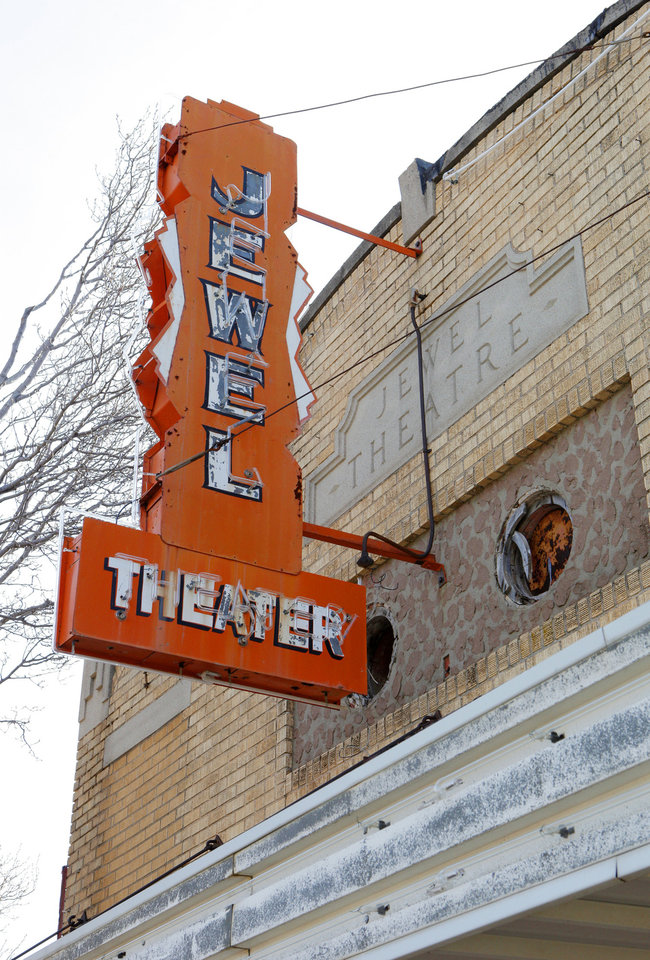 Photo - The Jewel Theater building still stands at NE 4 and Laird Avenue in Oklahoma City. It was one of several businesses owned by the same black family.  PAUL B. SOUTHERLAND - The Oklahoman