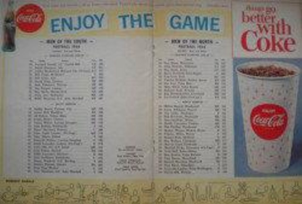 1964 All-State rosters from program. PHOTO PROVIDED <strong></strong>