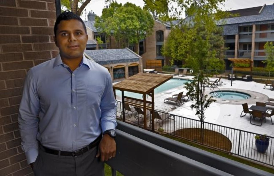 Photo -  Rohan Gupta is shown in this 2015 photo taken after the renovation of Sycamore Square and its renaming as The Haven.  [CHRIS LANDSBERGER/THE OKLAHOMAN]