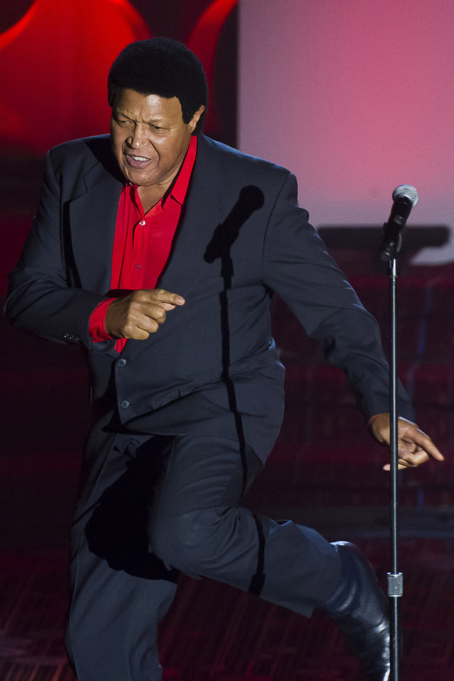 Photo - Chubby Checker performs at the Songwriters Hall of Fame Awards on Thursday, June 12, 2014, in New York. (Photo by Charles Sykes/Invision/AP)