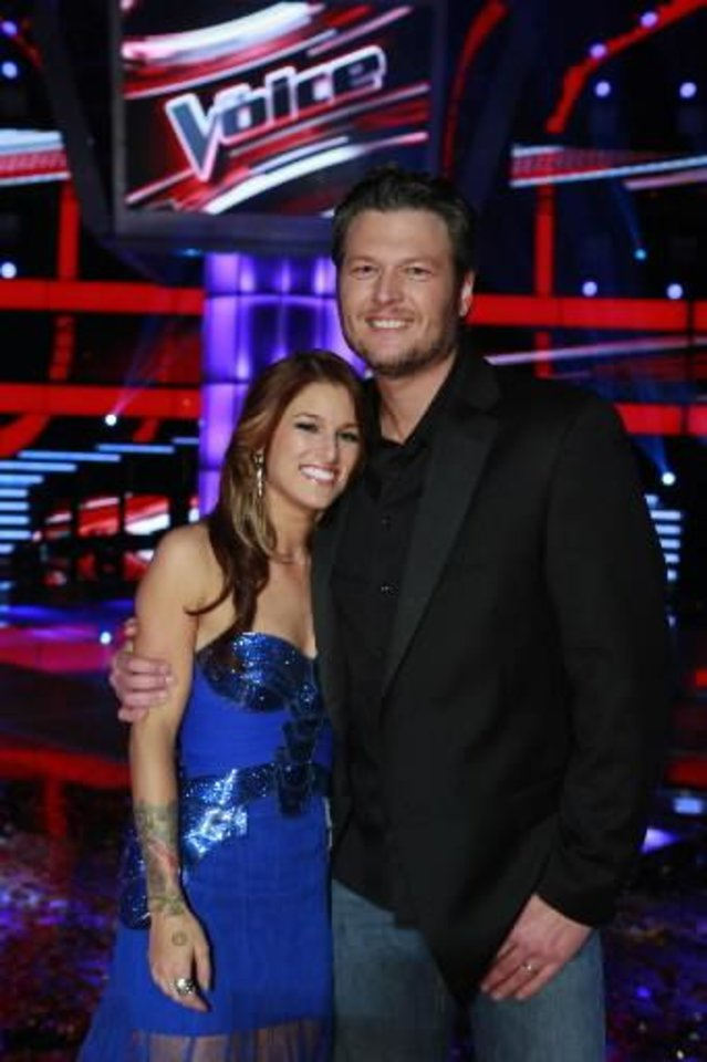 Cassadee Pope and Blake Shelton