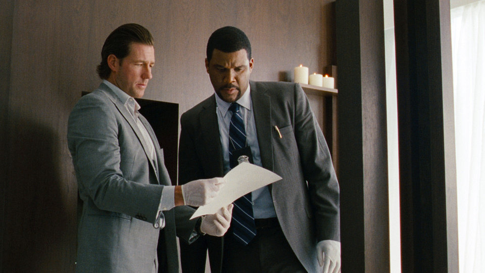 "Edward Burns, left, and Tyler Perry in a scene from ""Alex Cross."" SUMMIT ENTERTAINMENT PHOTO"