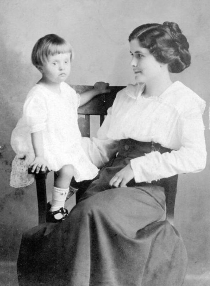 Photo -  Beulah McKee, right, poses with her daughter Ruth. Both mother and daughter were sickened by the Spanish flu in 1918, and on Dec. 9, Ruth died. She was 4. [PROVIDED]