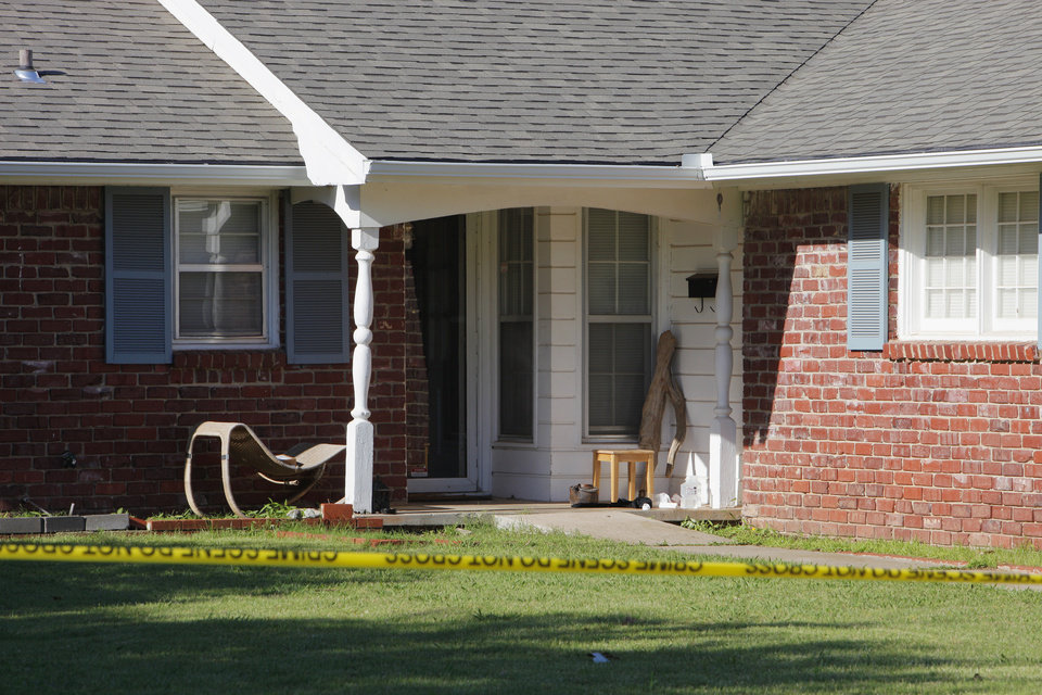 Photo - 2952 Lakeside Drive where The Village police department is investigating an assault and homicide case in The village Friday, June 13, 2014. Photo by Paul B. Southerland, The Oklahoman