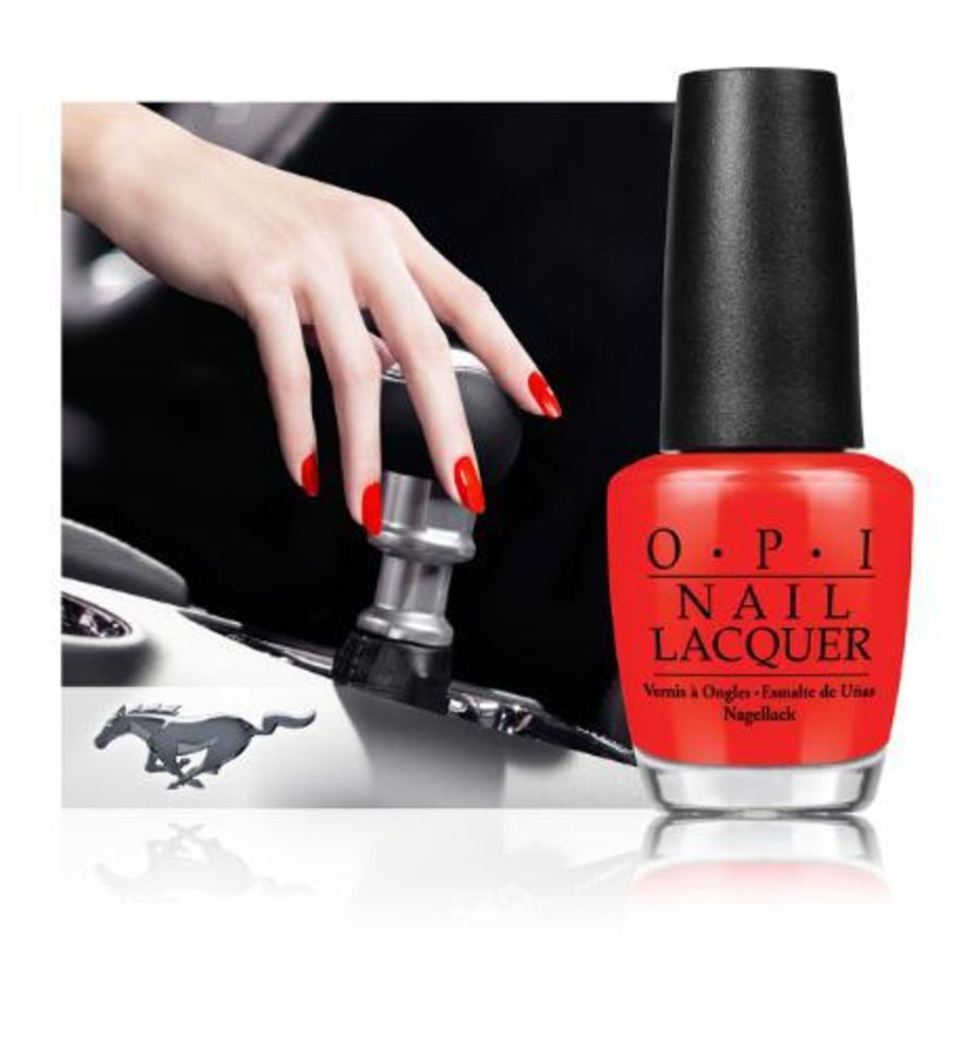 Photo -  OPI Joins Ford Mustang to Launch Limited Edition Nail Lacquer Collection.  (PRNewsFoto/OPI Products Inc.)