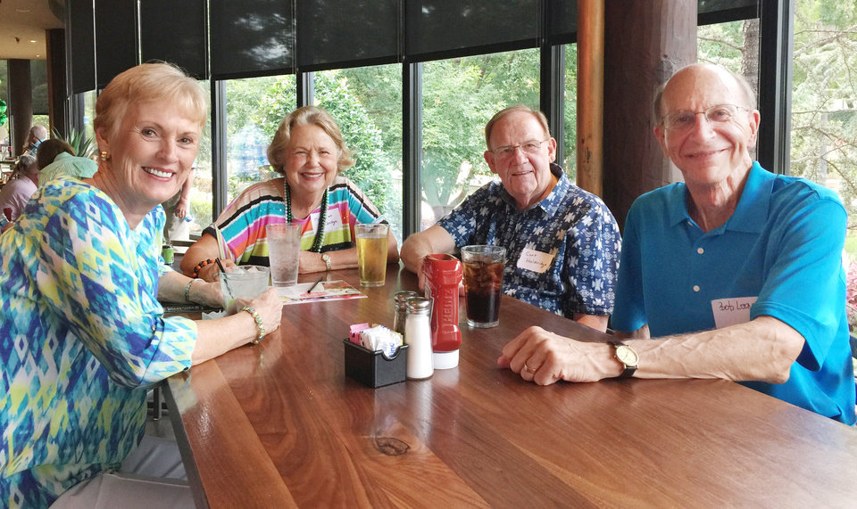 Photo - Anne Looney, Margaret and Curt Holdridge, Bob Looney. PHOTO PROVIDED