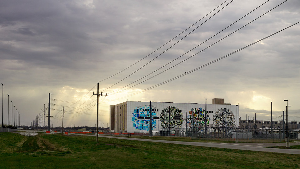 Photo -  Google's new four-story data center in Pryor is part of an overall $2 billion investment the company is making in Oklahoma. [Photo provided]