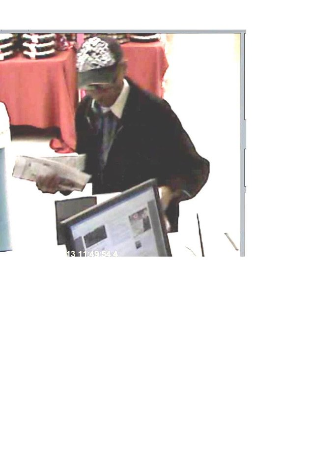 The FBI is searching for a man in the Monday robbery of a Norman bank. Photo provided
