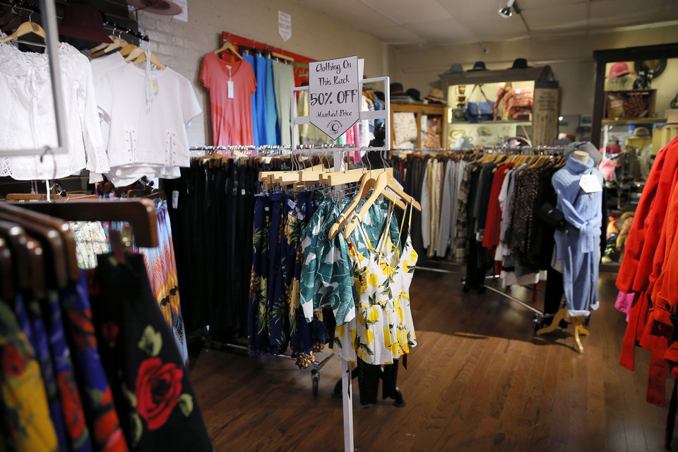 Photo -  Clothes for sale inside Craig's Curious Emporium in Oklahoma City, Wednesday, March 20, 2019. Photo by Bryan Terry, The Oklahoman
