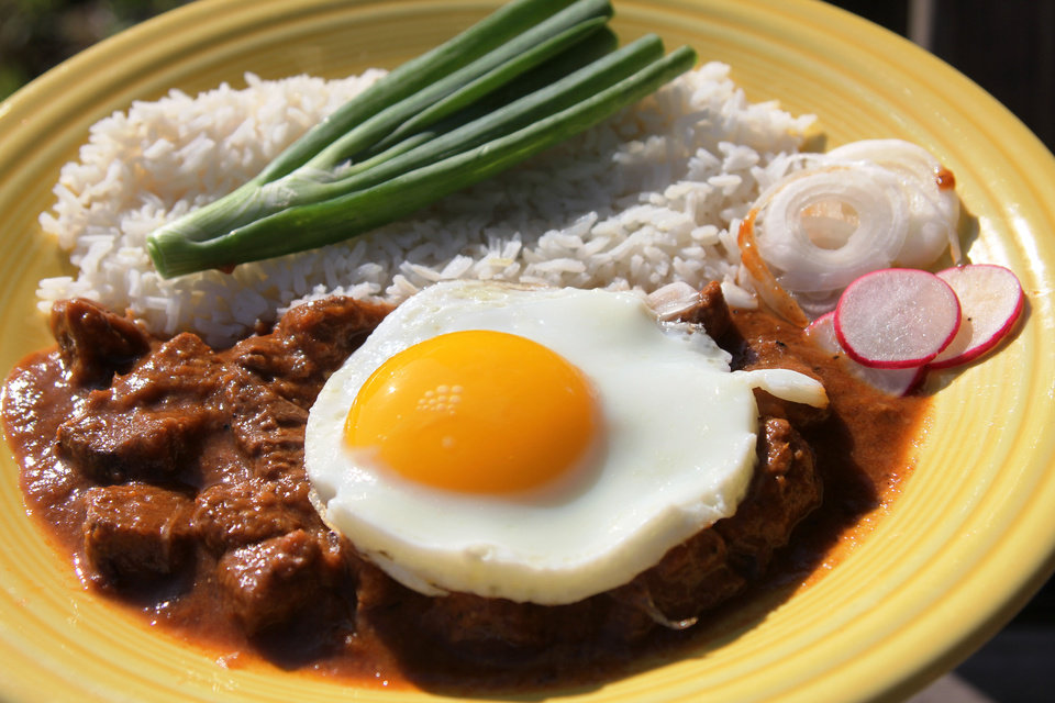Photo - Carne quisada is a perfect landing spot for a fried egg.  DAVE CATHEY - THE OKLAHOMAN