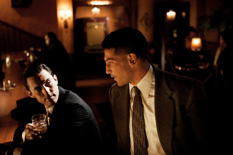Photo - This photo provided by TNT shows Milo Ventimiglia, left, and Jon Bernthal in a scene from the TNT drama series,