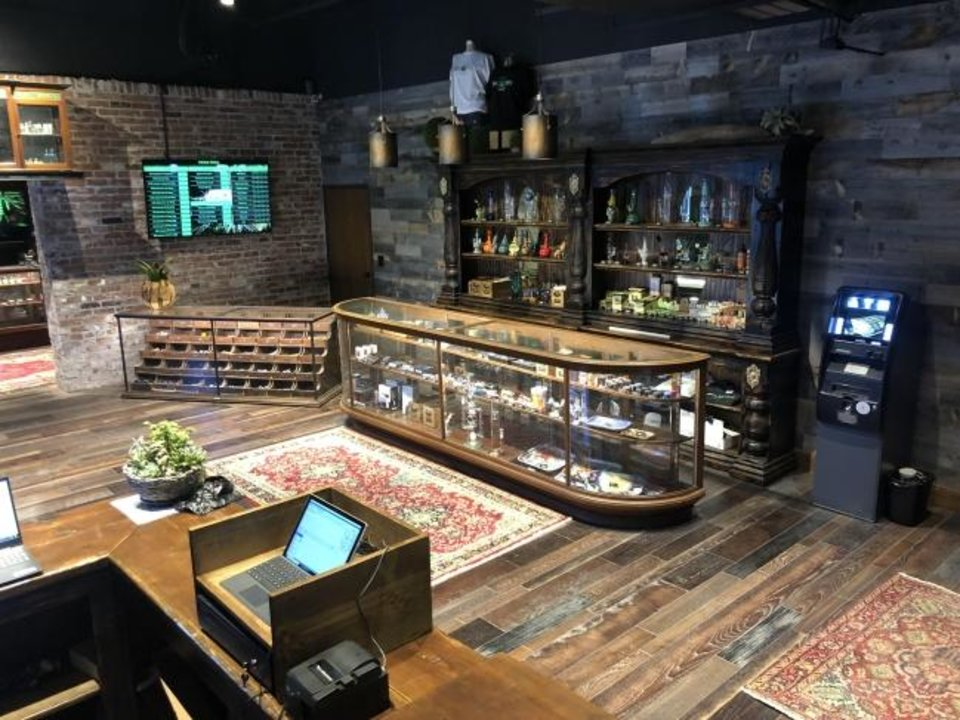 Photo -  A view inside Herbal House, a medical marijuana dispensary, 421 W Gray, Norman. [PHOTO PROVIDED BY CRAIG BLANKENSHIP]