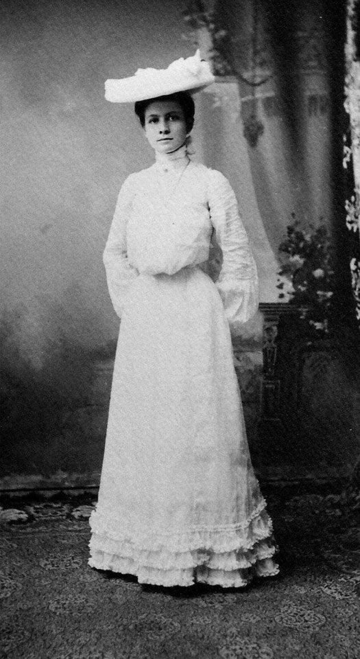 Photo - Lillian Fowkes Carter on her wedding day, July 16, 1902. Photo provided by Ginny Wynn.