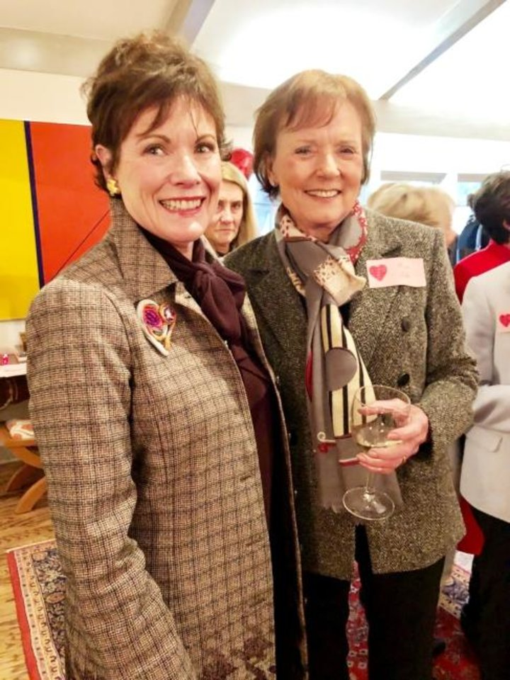 Photo -  Jane White and Karen Luke. [MARY PRICE]