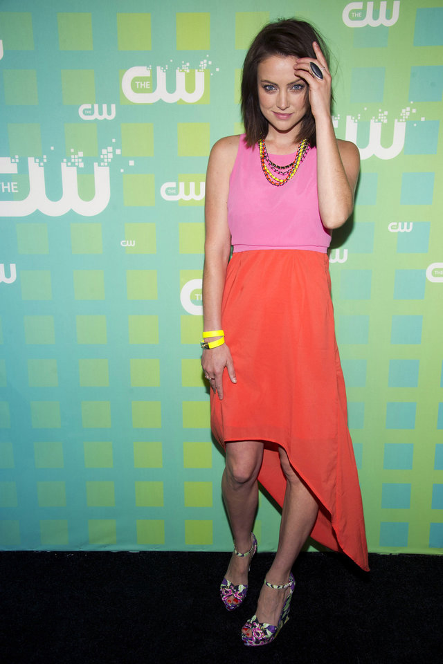 Photo -   Jessica Stroup attends The CW Television Network's Upfront 2012 in New York, Thursday, May 17, 2012. (AP Photo/Charles Sykes)