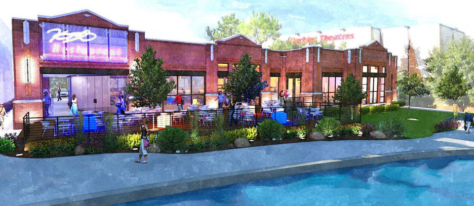 New drawings for a proposed Kevin Durant restaurant have more balcony seating and an improved connection to the Bricktown Canal than originally proposed. DRAWING PROVIDED