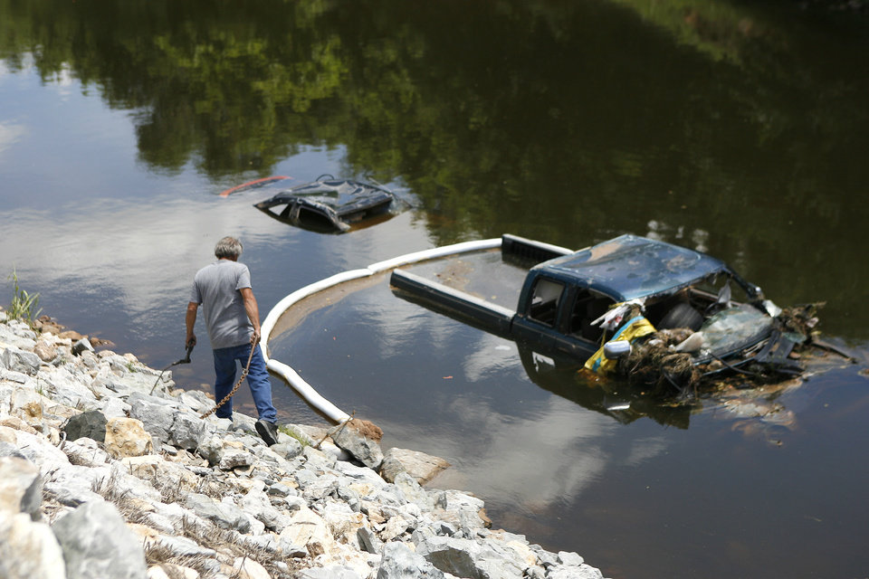 Old Cars Found In Lake In Oklahoma