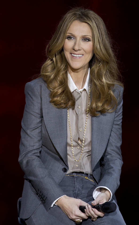 Photo -   FILE - In this Tuesday March 15, 2011 file photo, Celine Dion answers questions during a press conference after her opening night performance at Caesar's Palace in Las Vegas. Mariah Carey, Usher and Celine Dion are among the heady names being tossed around as