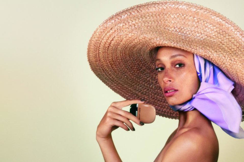 Photo - Adwoa Aboah, the latest face of Marc Jacobs Beauty, wears Shameless Youthful Look 24-h Longwear Foundation in shade Tan y400.