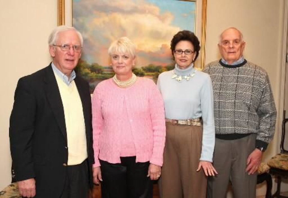 Left: Bill and Mary Lou Stone, Linda and Barth Bracken. PHOTO BY DAVID FAYTINGER, FOR THE OKLAHOMAN