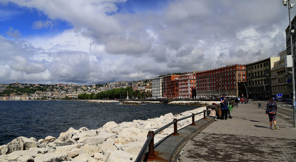 Photo - This May 2, 2014 photo shows a  view of the waterfront on Via Partenope in Naples, Italy. Recent traffic changes have banned traffic from two major streets creating a walking/biking thoroughfare. (AP Photo/Michelle Locke)