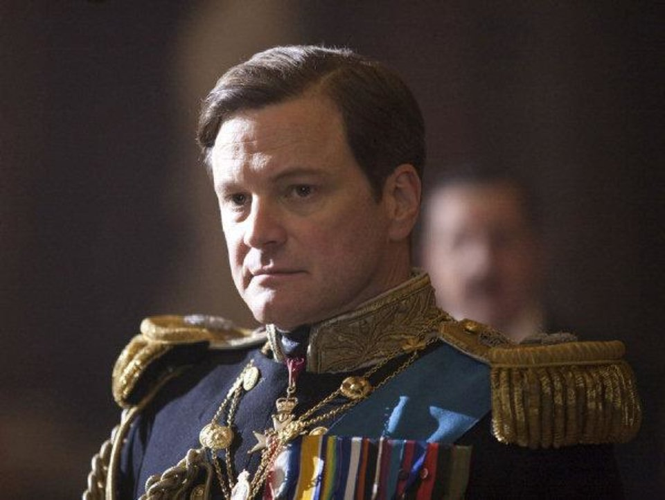 "Colin Firth portrays King George VI in ""The King's Speech."" THE WEINSTEIN CO. PHOTO <strong>Laurie Sparham</strong>"