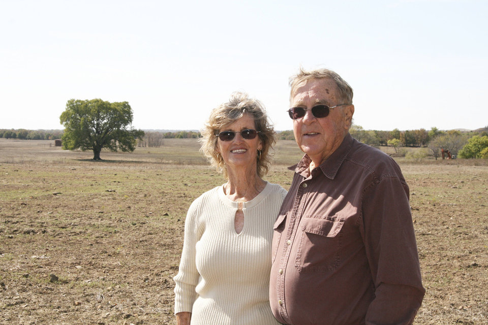 Pawhuska residents Dorothy and Earl Fink had their property cleaned up by the Oklahoma Energy Resources Board. It was OERB's 12,000 cleanup. <strong> - provided</strong>