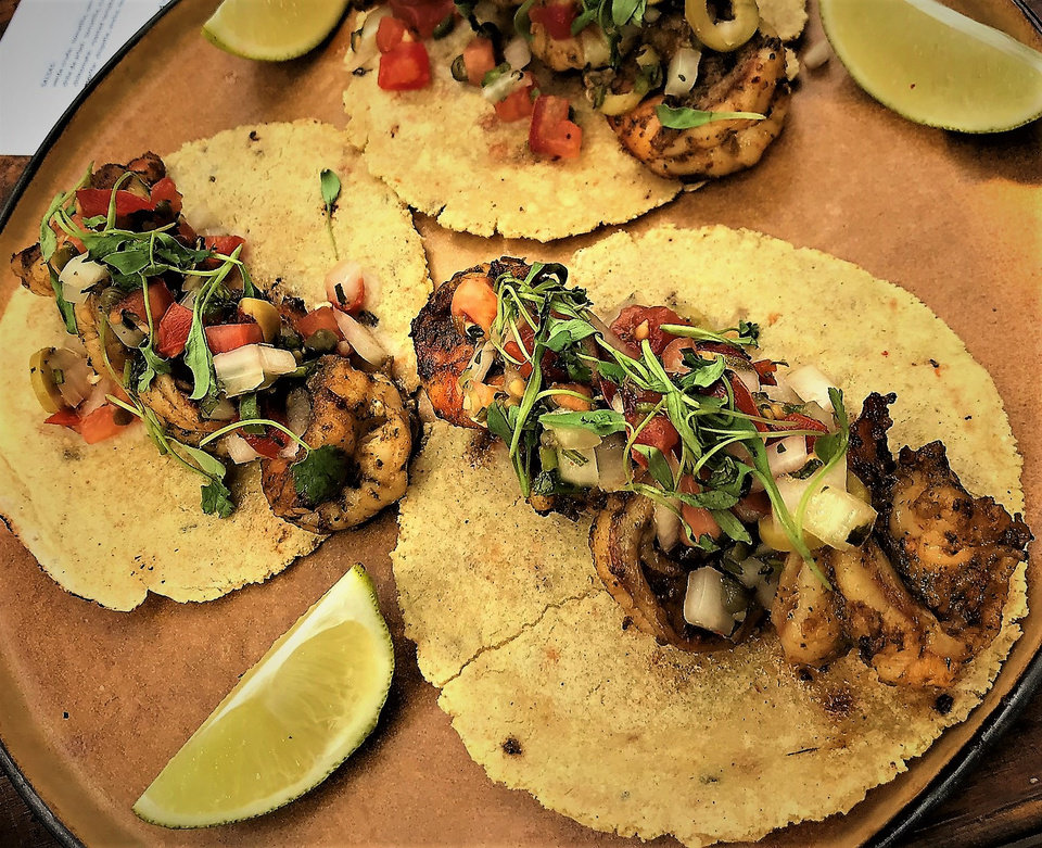 Photo -  Mediterranean shrimp tacos could be on the menu at Oso when it opens in the Paseo Arts District in October. [Photo by Dave Cathey, The Oklahoman]