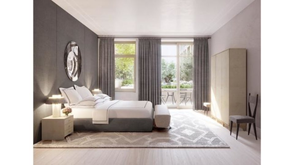 Photo -  A room with light sanded floors: Designer Ryan Korban says light floors lend themselves to a more serene sleeping environment. He used them in this New York City bedroom. [WILLIAMS NEW YORK]