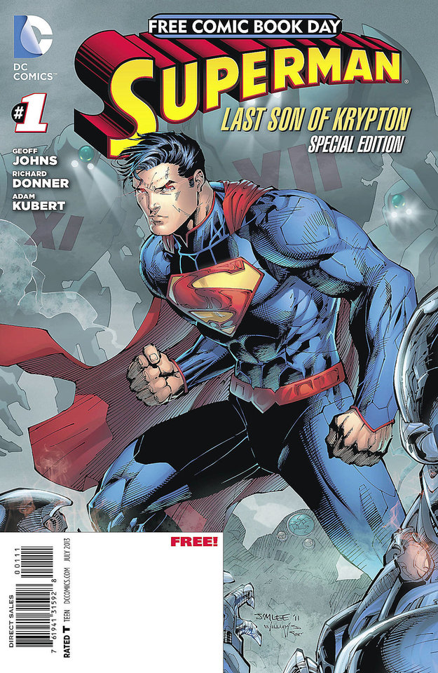 DC Comics will release a Superman comic for Free Comic Book Day. DC Comics. <strong></strong>