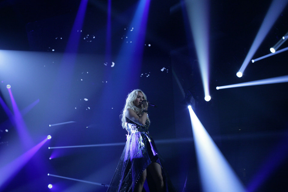 "Checotah native Carrie Underwood performs during the opening weekend of her ""Blown Away Tour."" Photo by Todd Cassetty. <strong>unknown</strong>"