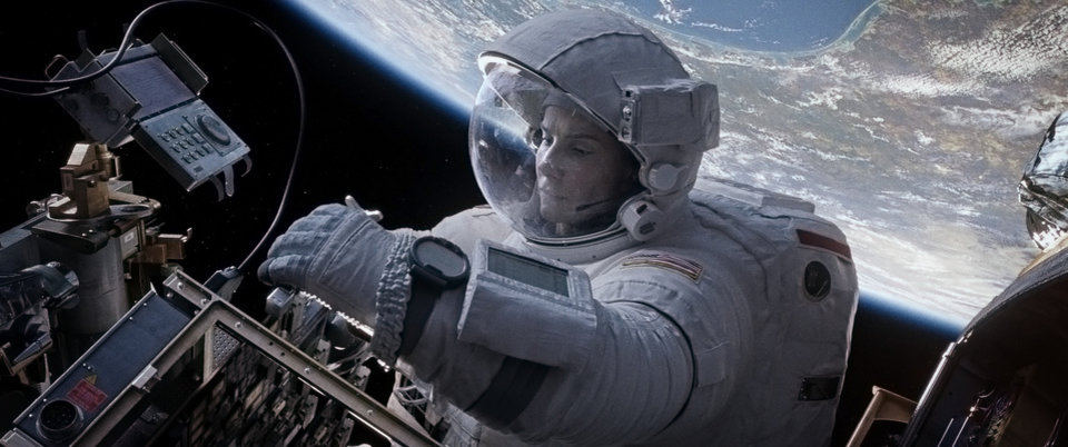 "Photo - This film image released by Warner Bros. Pictures shows Sandra Bullock in a scene from ""Gravity."" (AP Photo/Warner Bros. Pictures)"