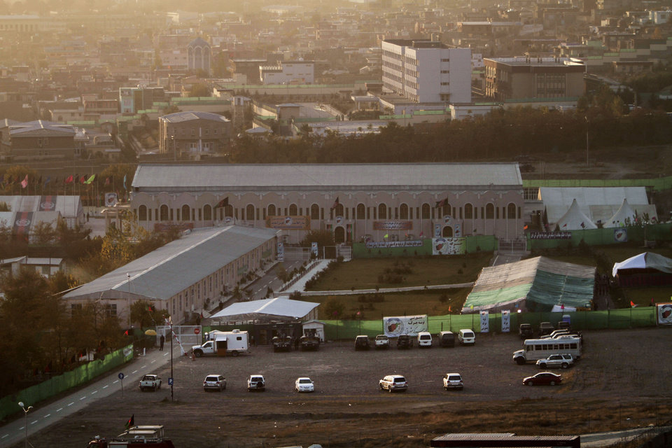 Photo - A general view of the venue where the Loya Jirga will be held, in Kabul, Afghanistan, Wednesday, Nov. 20, 2013. A traditional council around 3,000 prominent Afghans is due to start discussion on Bilateral Security Agreement between Afghanistan and the United States tomorrow. (AP Photo/Rahmat Gul)