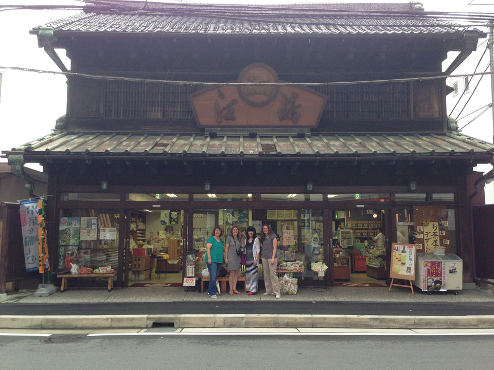 Photo -       Our group in front of a 350-year-old store in Odawara City.