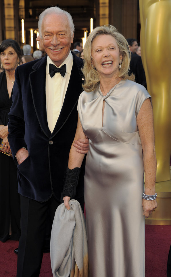 Christopher Plummer, left, and Elaine Taylor arrive before the 84th Academy Awards on Sunday, Feb. 26, 2012, in the Hollywood section of Los Angeles. (AP Photo/Chris Pizzello) ORG XMIT: OSC185
