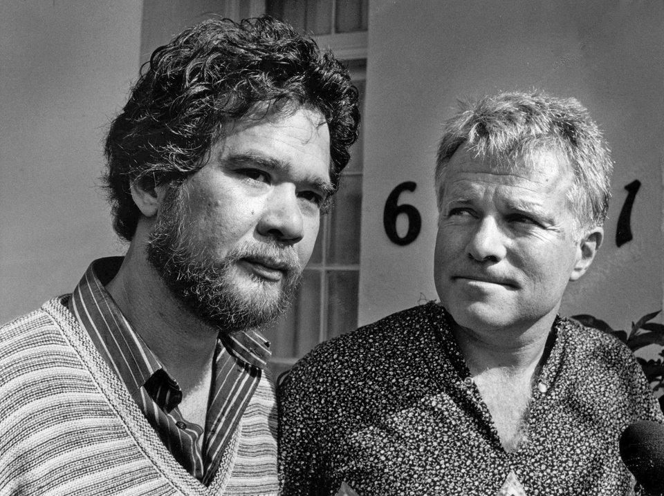 In this May 10, 1984 photo, gay partners Richard Adams, left, and Anthony Sullivan appear at a news conference. They were facing the deportation of Sullivan to Austrialia. Adams, who used both the altar and the courtroom to help begin the push for gay marriage four decades before it reached the center of the national consciousness, has died, his attorney said Sunday, Dec. 23, 2012. After a brief illness, Adams died Monday, Dec. 17, 2012, at age 65 in the Hollywood home he shared with Sullivan, his partner of 43 years, attorney Lavi Soloway told The Associated Press. (AP Photo/Los Angeles Times)  NO FORNS; NO SALES; MAGS OUT; ORANGE COUNTY REGISTER OUT; LOS ANGELES DAILY NEWS OUT; VENTURA COUNTY STAR OUT; INLAND VALLEY DAILY BULLETIN OUT; MANDATORY CREDIT, TV OUT