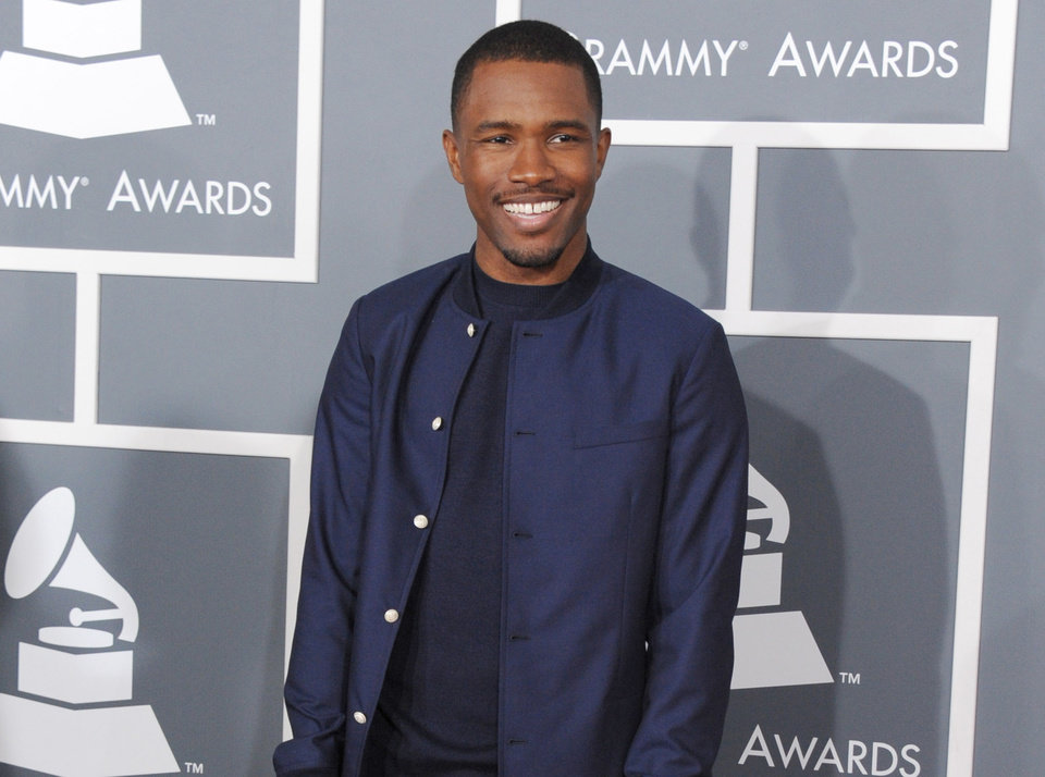 Photo - Frank Ocean arrives at the 55th annual Grammy Awards on Sunday, Feb. 10, 2013, in Los Angeles.  (Photo by Jordan Strauss/Invision/AP)