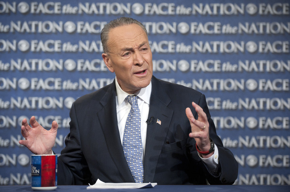 Photo - In this photo provided by CBS News, Sen. Chuck Schumer, D-N.Y., appears, Sunday, April 7, 2013, on CBS'