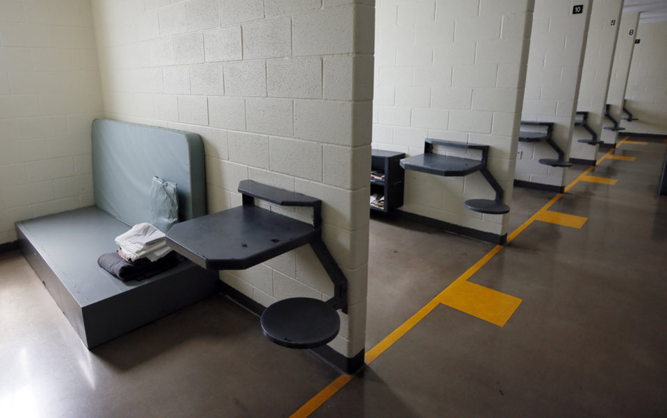Photo -  An open-bay dorm at the Southwest Oklahoma Juvenile Center in Manitou is where the state houses male youthful offenders and delinquents at the facility. [Photo by Nate Billings, The Oklahoman]