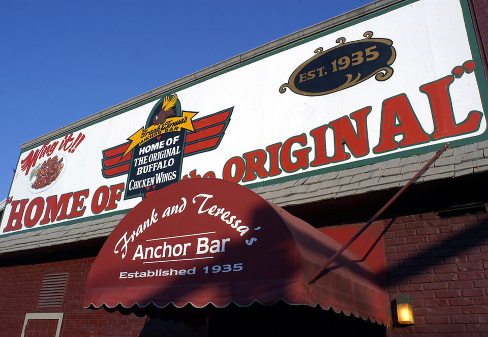 Photo - FILE - This Oct. 5, 2005 file photo shows the Anchor Bar in Buffalo, N.Y.  The Anchor Bar is credited with inventing
