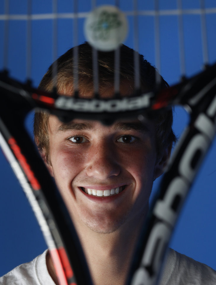 All-City tennis player Nate Roper in Oklahoma City, Tuesday, May  29  2012. Photo By Steve Gooch, The Oklahoman