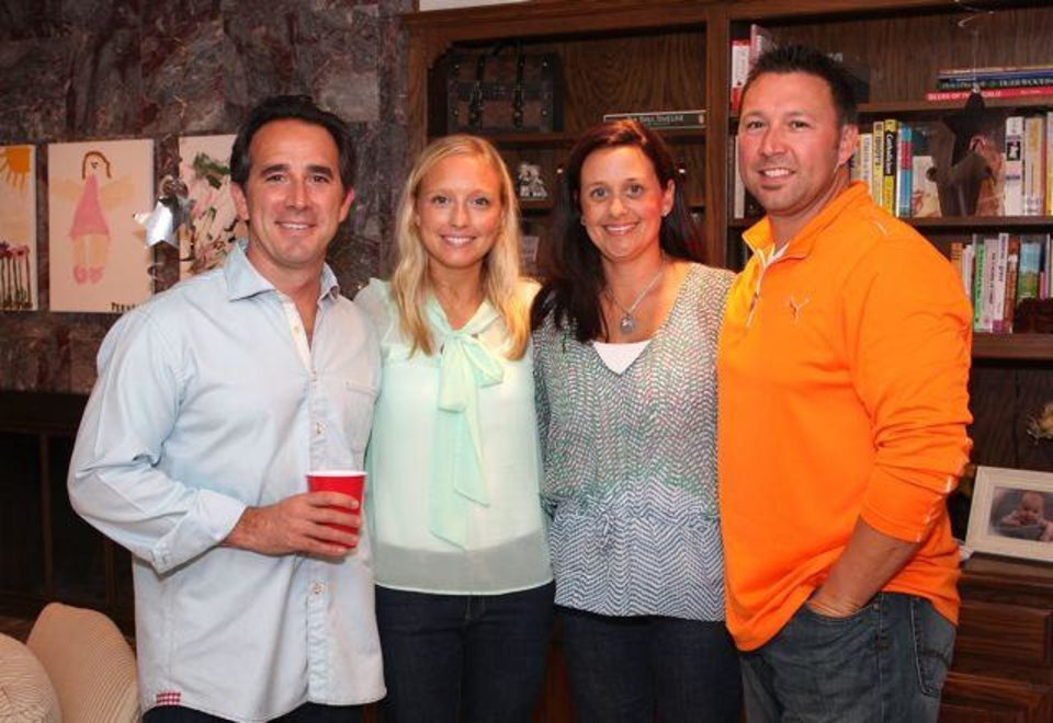 Dave Lopez, Stacy Fagan, Dena and Shayne Vigil celebrate at Ross Cash's birthday party. (Photo by David Faytinger).