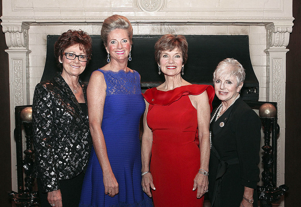 Photo - Charlotte Richels, Marnie Taylor, Janie Axton,  retired Maj. Gen. Rita Aragon.  PHOTOS BY DAVID FAYTINGER, FOR THE OKLAHOMAN