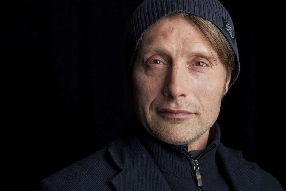 Photo - This March 21, 2013 photo shows Danish actor Mads Mikkelsen poses for a portrait in New York.  Mikkelsen stars as Dr. Hannibal Lecter in the new series