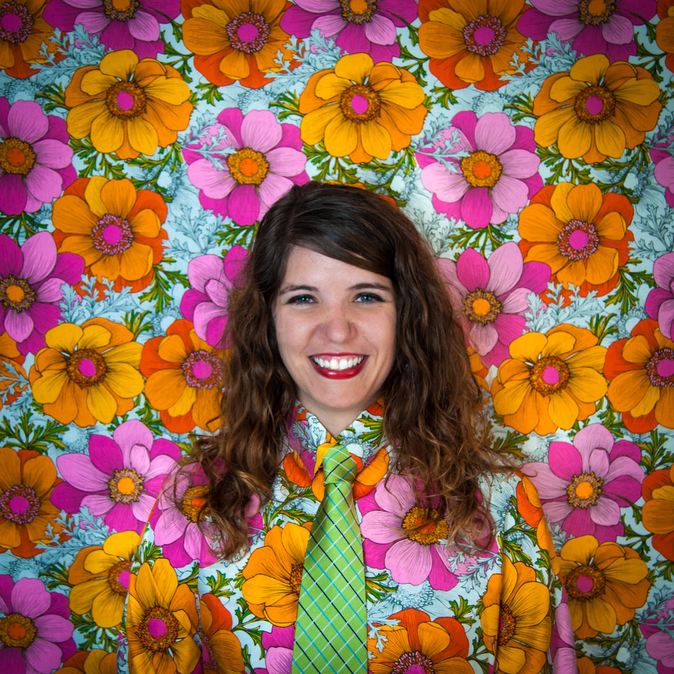 Photo -  @tceezy   This is a picture of my friend, Cayla Lewis. She's the executive director of the Plaza District and has such a bright, refreshing personality. I wanted to convey that in her portrait.    I love making these shirts and taking these portraits because they make everyone smile and feel a sort of childlike whimsy about the world. It's amazing that we're alive and aware, and these portraits are a celebration of that.